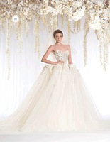 unique design  Vintage  Appliques see through neck ball gown wedding dresses china With Bridal Gown for winter 2015 RR-057