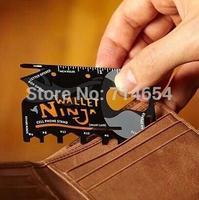 DHL Free Shipping 2014 New Wallet Ninja Credit card Tool Multifunctional Tool edc Mini Pocket Travel Camping Card Survival Tools