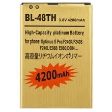 Free shipping 4200mAh Replacement Mobile Phone Battery for LG Optimus G Pro / F240K / F240S / F240L / E988 / E980 / D684