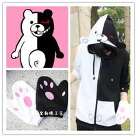 Danganronpa: Trigger Happy Havoc monokuma cosplay costumes Zipper hooded anime leisure autumn clothes