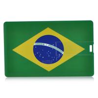 New style Personality Brazil flag pattern card shape 4GB 8GB 16GB 32GB USB 2.0 Memory Stick Flash Pen Driver U Disk USB563