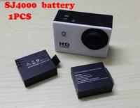 Free Shipping   Original SJ4000 3.7V Li-on 900mAh Backup Rechargable Battery For SJ4000