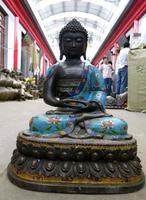 """bir 003467 22"""" China bronze copper Buddhism temple Sakyamuni buddha Statue"""