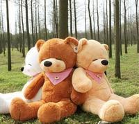 New Giant 200CM/78''inch TEDDY BEAR PLUSH HUGE SOFT TOY Plush Toys Valentine's Day gift Sleepy Bear 2m Squinting Bear 3 colours