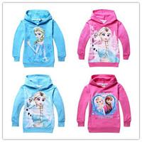 Retail! 1PC 2015 New Arrival Child Boys girls Hoodies cartoon Long Sleeve tops Sweatshirts kids wear