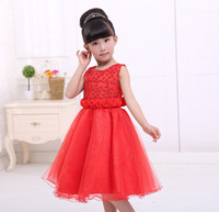 Concise fashion wedding dress little girl dress moderator babies clothes