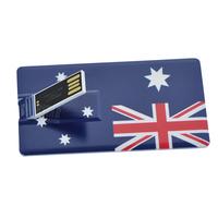 New style Personality Australia flag pattern card shape 4GB 8GB 16GB 32GB USB 2.0 Memory Stick Flash Pen Driver U Disk USB564