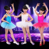 2015 new fashion Kids Children's dance skirt Girls dance clothes princess dress Girls practicing ballet costume veil