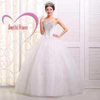 2014  China Romantic Sexy vestidos de noiva White Bandage Wedding Dress Rhine stone Plus Size Real Photo vintage wedding dress