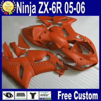 Free gifts Custom fairing kits for kawasaki ninja ZX 6R 2006 2005 ZX6R 636 06 05 ZX-6R matte orange aftermarket fairings parts
