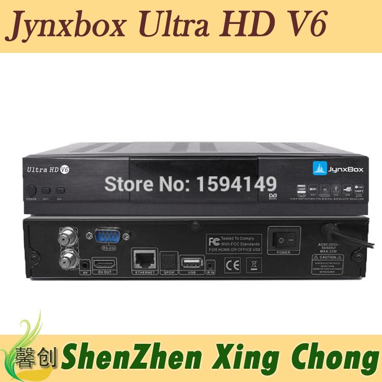 JynxBox Ultra HD V6 fta hd receiver Wifi usb dongle Jynxbox v6 fta satellite receiver North America free shipping(China (Mainland))