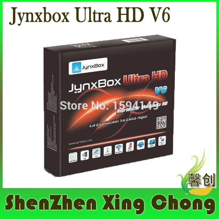 5pcs jynxbox ultra hd v6 satellite internet receiver antenna tuner digital satellite finder receptores satellite free hd(China (Mainland))