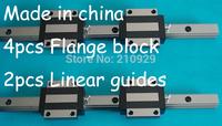 20mm Linear Guides Rail bearings 2xL500mm + 4xHGW20CA
