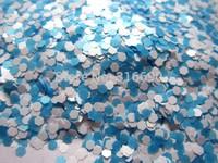 WHite and Blue Mix Hexagon Glitter Nail Art Decoration G258