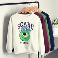 2015 Newest Style High Quality Fleece Inside Warm Hoodies Fashion Women ET Printed Cartoon Sweatshirts Free Shipping