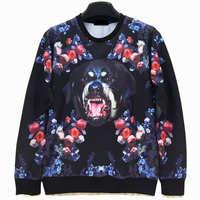 Bear In The Flowers / Cool Cat Men's Crewnecks  3D Hoodies Sweatshirts  Long Sleeve Outerwear Pullovers