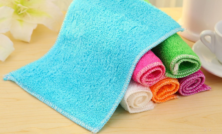 10 pcs 18*23cm Kitchen cloths double layer bamboo fibre wash towel oil wash cloth dishclout charcoal Bamboo fiber cloth(China (Mainland))
