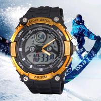 2015 New Sanda Brand Men LED Quartz Analog Digital Military Watches Fashion Sports Watch Dive Swim Outdoor Casual Wristwatches