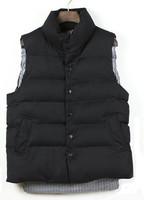 THOM red white and Navy stripes down cotton vest cotton vest waistcoat