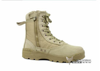 Military Tactical Swat Men Boots Combat Outdoor Army Desert Hiking Long Work Botas Shoes Travel Leather High Autumn Boots Male