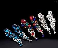 Fashion Jewelry Crystal Dangle Earrings brincos long fringed water Drop Earrings For Women evening dress earrings