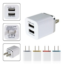 di alta qualità 5 v 2.1 / 1a doppio us ac travel usb caricabatterie da muro per iphone samsung galaxy htc cellulare telefoni adattatore(China (Mainland))