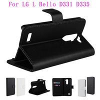 1pcs Free Shipping Stand Flip Cover Leather Wallet Case Skin For LG L Bello D331 D335 Mobile Phone With Card Holder