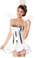 Exotic Apparel 4PC White Angel Costume set Valentine's Day clothing sets fantasias femininas