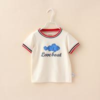 Baby Summer Tops Fashion Organic Cotton Bebe Up Brand Children Causal T-shirts Boys Print Short Sleeve Tanks Clothing 4pcs/lot