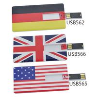 Personality Portable Germany UK USA flag pattern card shape 8GB USB 2.0 Memory Stick Flash Pen Driver U Disk