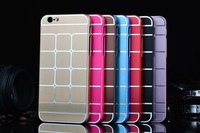 100pcs/lot 2014 Newest For Apple iPhone 6 4.7 Case plating aluminune Moblie Phone Case for iPhone6 case 7color