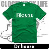 new 2014 free shipping print House M.D. portrait NBC DR HOUSE everybody lies sitcoms man men male sports short-sleeve T-shirt