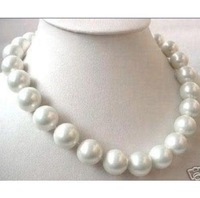 "HUGE 18""11-12MM SOUTH SEA GENUINE WHITE PEARL NECKLACE"