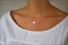 1pcs Free Shipping Hot New Simple Gold Alloy Charming Bar Circle Triangle Khamsah Pendant Necklace For