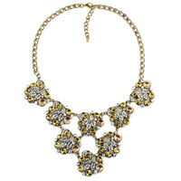 M1403 NEW arrive 2015 Hight quality crystal chunky chocker collar necklace & pendant bib statement necklace for women jewelry