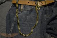 Handmade Brass Chrome luo Hearts Tang flower design buckle keychain sai fu Purse chain phoenix tail hook key ring for Harley