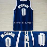 # 0 Russell Westbrook Basketball Jerseys, Cheap Brand New Blue REV 30 Embroidery Logo Russell Westbrook Basketball Jersey