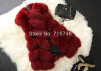 Winter Coat Women Fashion Import Overcoat Whole Peel Faux Fox Fur Vest High-Grade Cappa Fur Coat Leisure Shitsuke Women Coat
