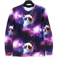 Raccoon Funny Cat Animal Print Men's Crewnecks  3D Hoodies Sweatshirts  Long Sleeve Outerwear Pullovers
