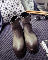 New arrival warm and comfortable platform leather boot shoes