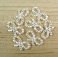 18mm hair bows shape  ABS imitation pearl  DIY decoration jewelry  accessories  beads