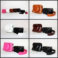 FREE SHIPPING Camera Leather Case Bag Cover Pouch For Panasonic lumix LX100 LX digital camera DMC-LX100