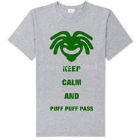 bob marley keep calm and puff puff pass green man soft comfortable reggae tee shirt