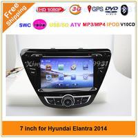 Car dvd gps for HYUNDAI Elantra 2014 GPS Navigation with DVD,GPS,POD,BT,ATV,3GWIFI ,RADIO,all function+map gift!