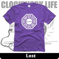 popular tv play lost T Shirt 2014 summer cotton DHARMA Initiative t-shirt man top tee casual man short sleeve plus size