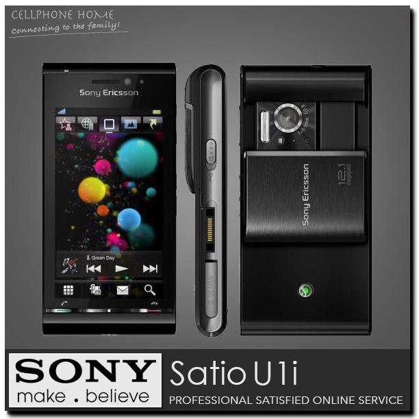 "U1i Original Sony Ericsson U1 Satio U1I Cell phone 3.5"" Touchscreen Symbian OS S60 GSM 3G with HSDPA 12MP WIFI GPS Refurbished(China (Mainland))"
