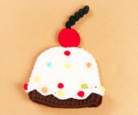 Crochet Newborn Baby Beanies Cap Handmade Photography Props baby crochet Cake Design Hat gorros bebes crochet