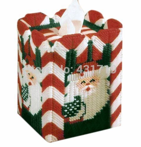 3d ponto cruz ponto cruz DIY artesanato costura bordados kits unfinished papai noel forma da tissue box paper(China (Mainland))