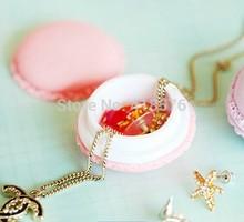 New 5Pcs Jewelry Box Gift Mini Macarons Box Candy Color Storage Box For Jewelry Organizer