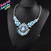 Fashion Vintage choker chain statement crystal pendant necklaces high quality elegant wholesale shourouk necklaces 4522